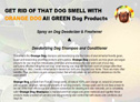 Orange Based Natural Green Products for Dogs